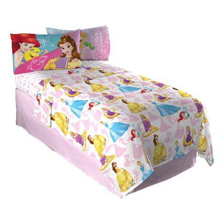 ensemble de draps pour lit double dazzling princess des princesses disney