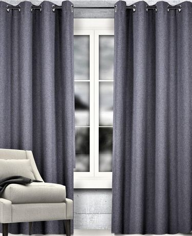 caricia home dreamer blackout 100 privacy grommet curtain panel 54 x 84 charcoal grey