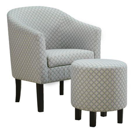 ensemble chaise d appoint et pouf par les specialites monarch