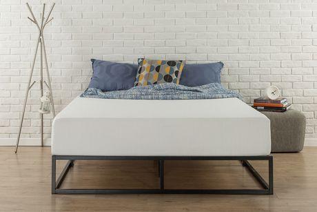 zinus 10 pouces platforma profil bas cadre de lit fondation de matelas strong structure en acier lattes en bois facile a assembler
