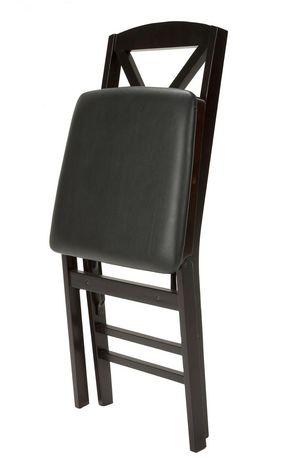 Chaise Pliante Cosco Espresso En Bois Avec Assise En