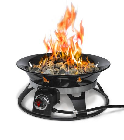 Outland Firebowl Cypress Portable Propane Fire Pit ... on Outland Gas Fire Pit id=13597
