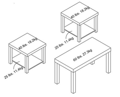 Ensemble De Table Basse Et Tables Dextrmit Hudson De