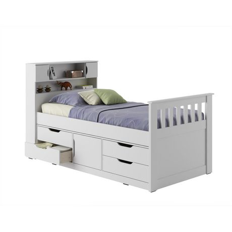 CorLiving Madison TwinSingle Captains Bed Walmart Canada