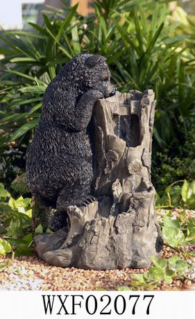 Hometrends Bear Tree Stump Patio Fountain Walmartca