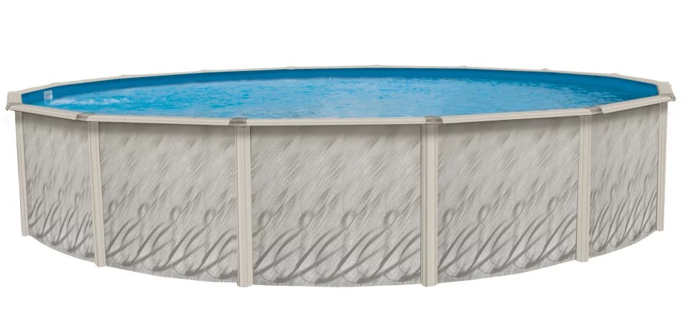Home skills concreting so you've decided to take the plunge and install a swimming pool. Lake Effect Meadows Reprieve 21 X 52 Round Steel Sided Above Ground Pool With Solid Blue Liner And Skimmer Walmart Com Walmart Com