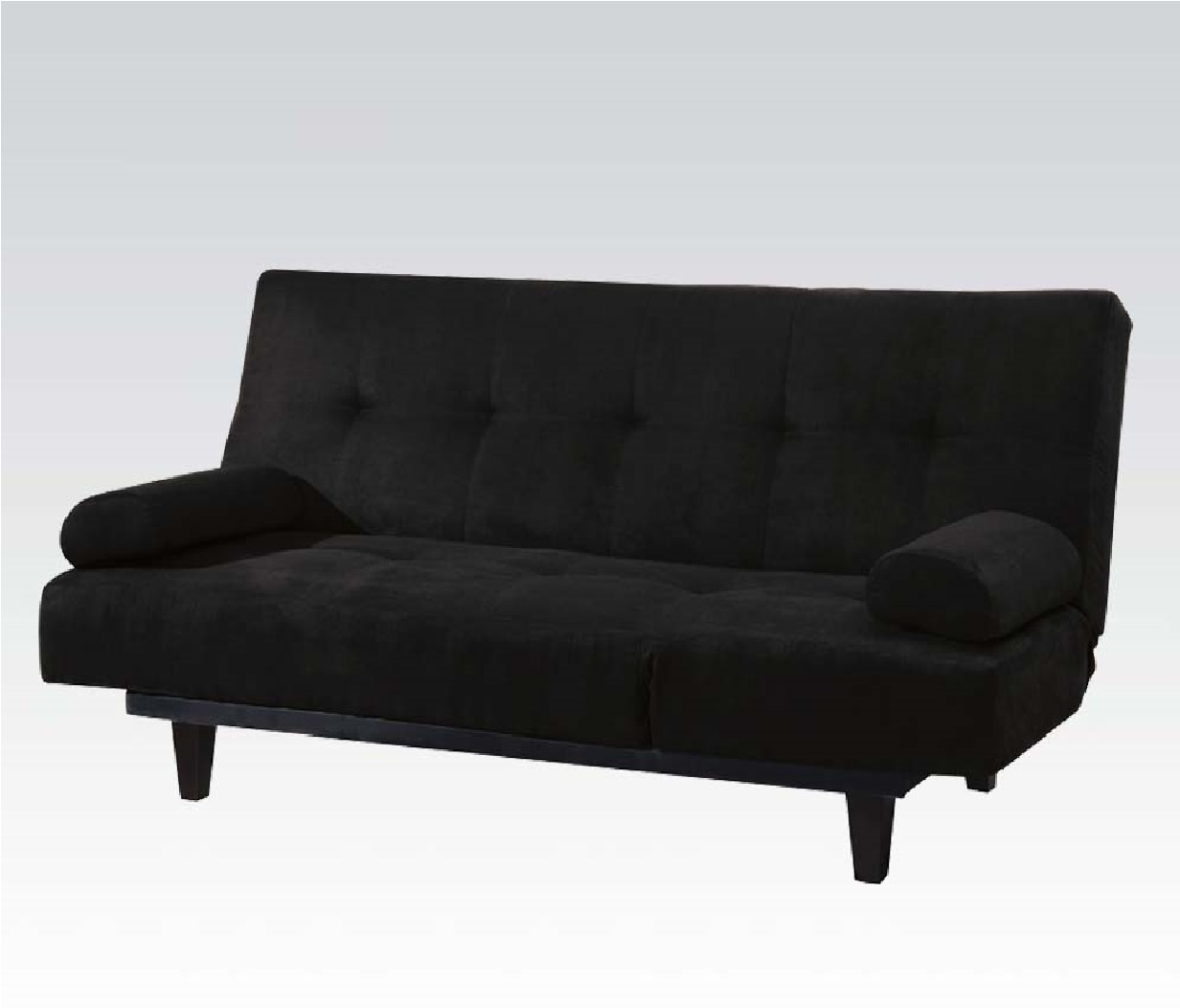 barcelona convertible futon sofa bed and lounger with pillows multiple colors