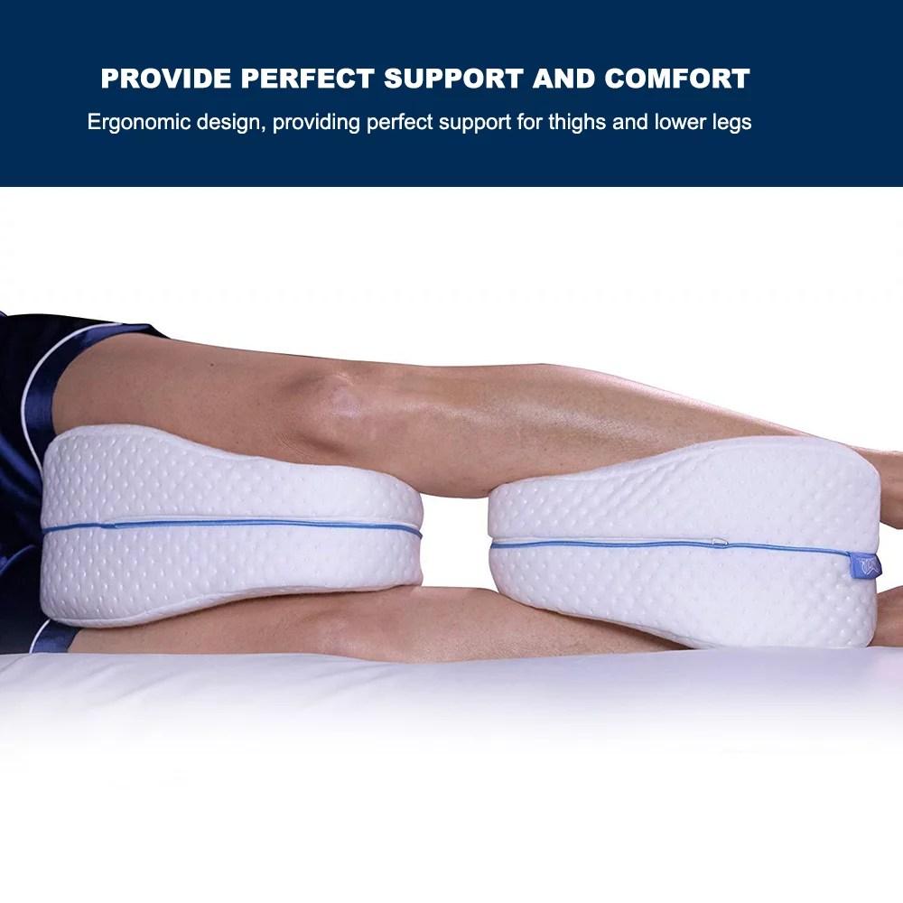contour legacy leg pillow slow rebound pillow knee pillow for side sleeping