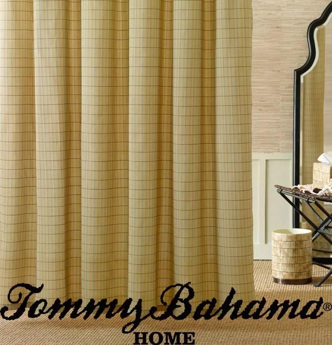 tommy bahama palm desert cotton shower curtain