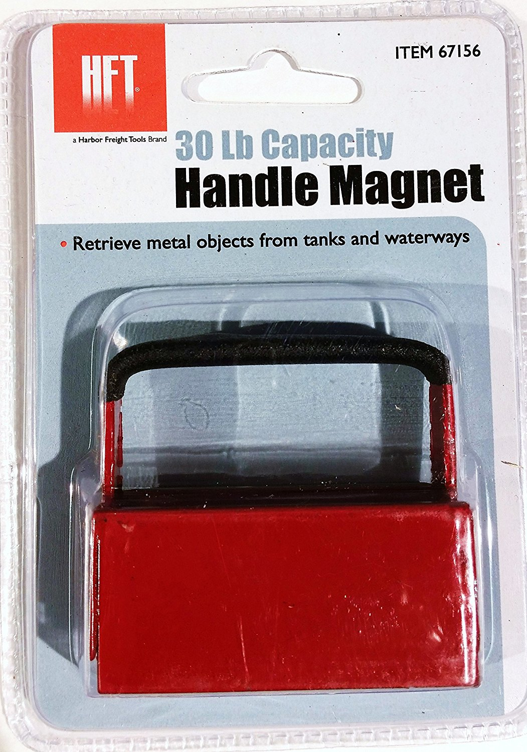 harbor freight tools 30 lb capacity powerful handle magnet retrieve metal objects from tanks and waterways by hft walmart com