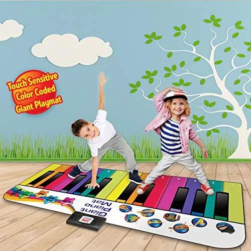 tapis de piano de sol tapis de jeu musical geant pour clavier pour tout petits et enfants 6 pieds