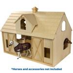 Breyer Traditional Deluxe Wood Horse Barn W Cupola Toy Model Walmart Com Walmart Com