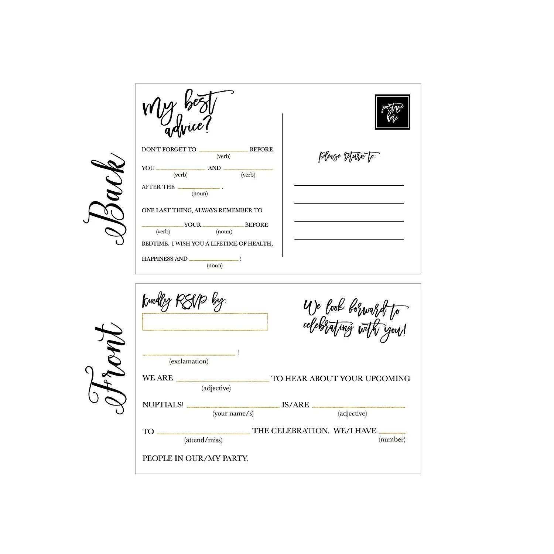 50 rsvp cards rsvp postcards no envelopes needed response card blank rsvp funny reply rsvp for wedding dinner baby shower bridal shower