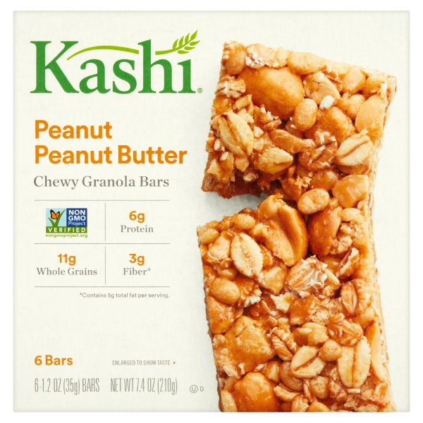 Kashi Peanutty Dark Chocolate Layered Granola Bars 6 ct