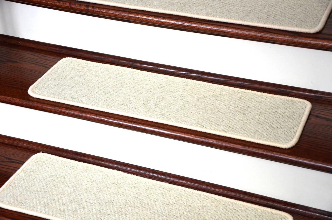 Dean Tape Free Pet Friendly Premium Wool Non Slip Stair Gripper   Dean Non Slip Stair Treads   Friendly Diy   Landing Mat   Fiber Sisal   Rugs   Keshan Chocolate