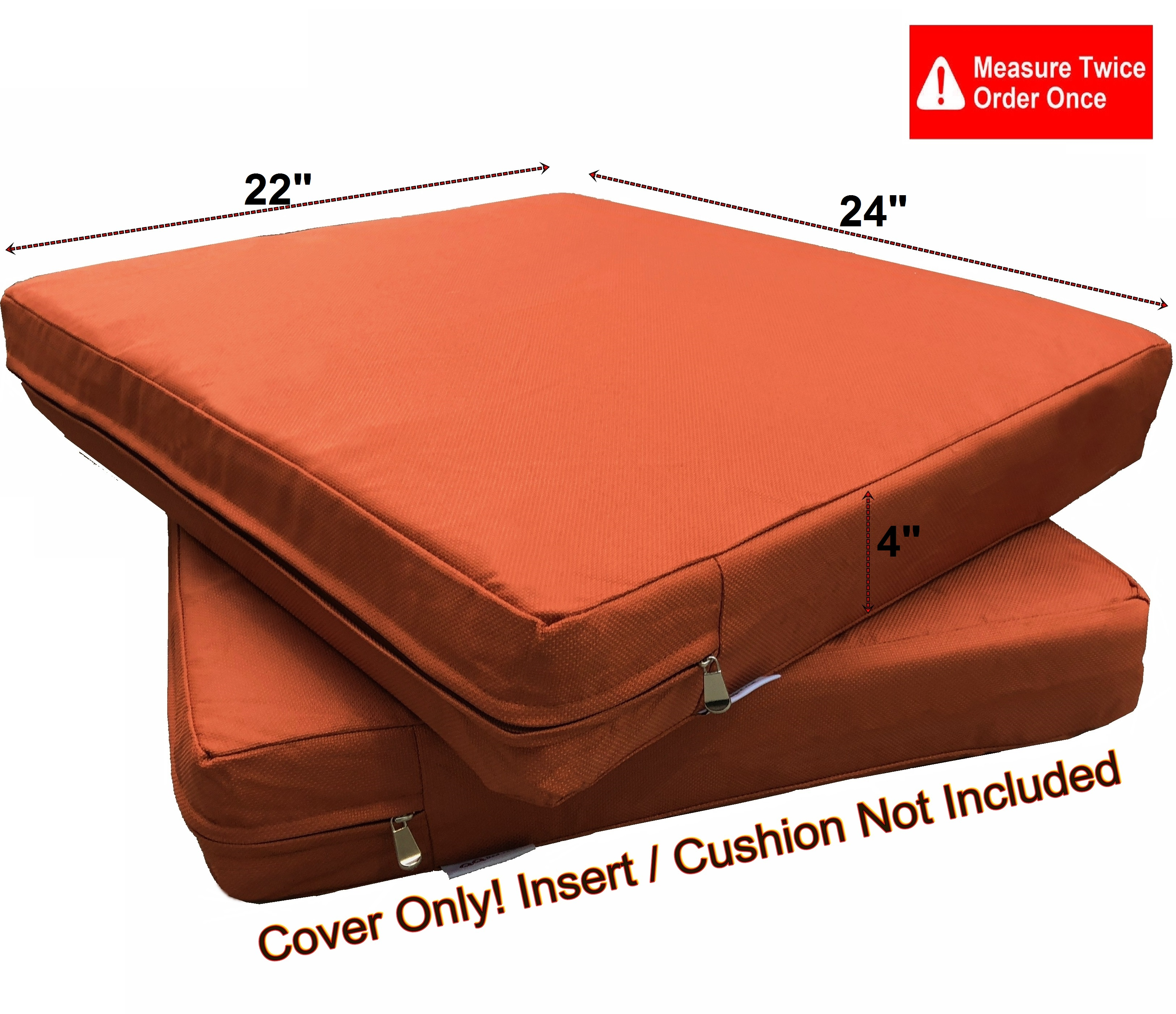 waterproof outdoor 4 pack deep seat chair patio cushions zipper cover 24 x22 x4 duvet replacement case walmart com