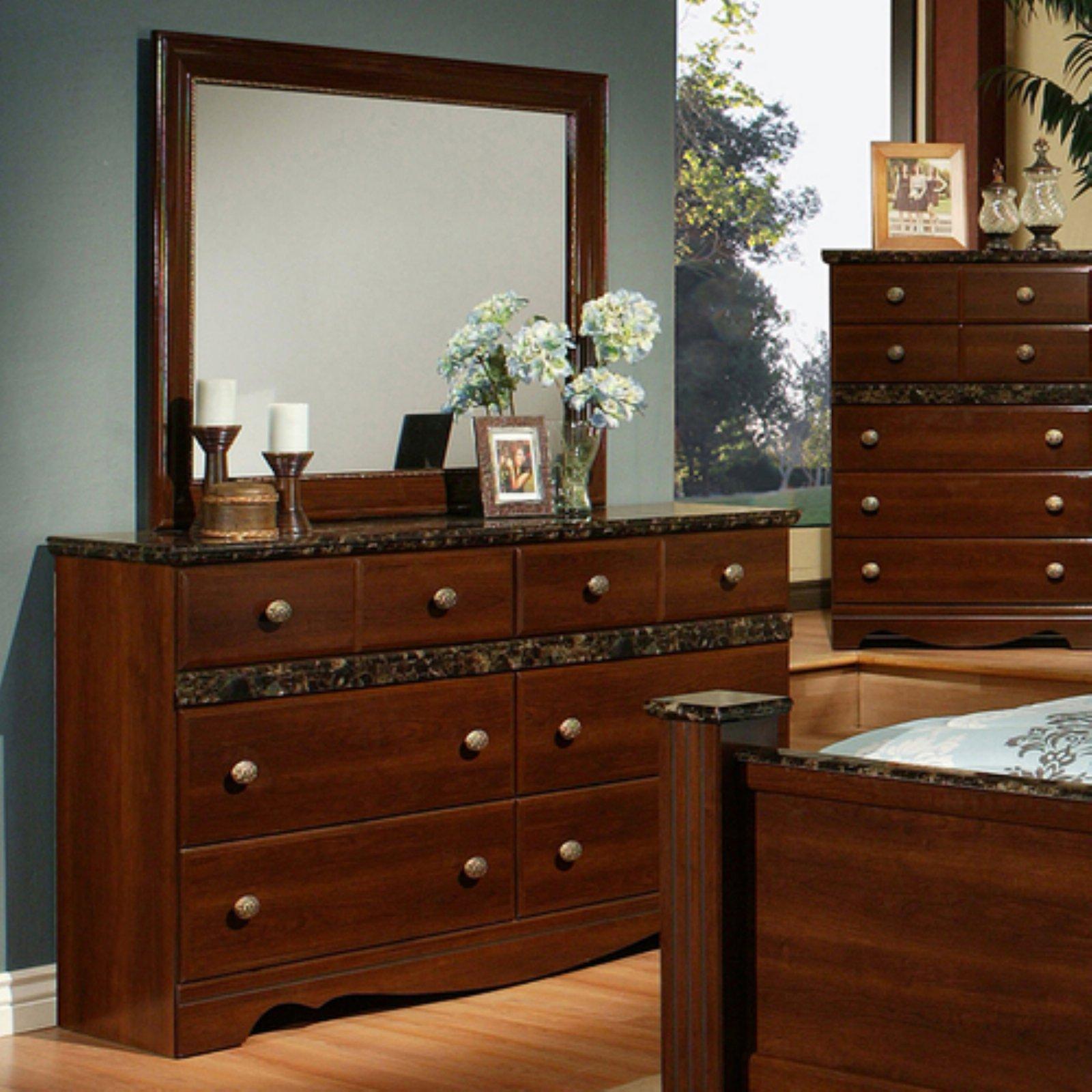 k b furniture cherry wood dresser with optional mirror