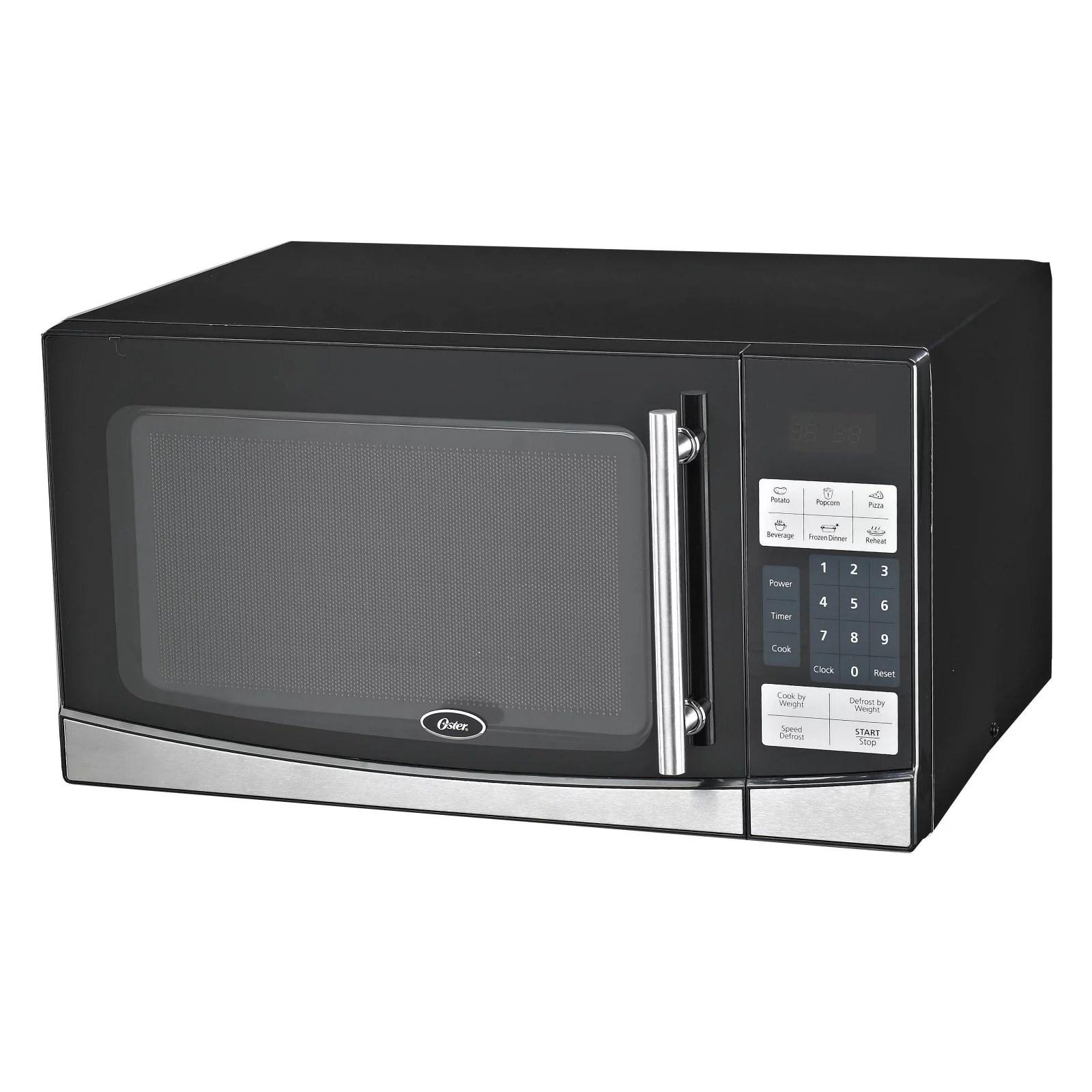 oster ogb61102 1 1 cu ft digital microwave oven black walmart com