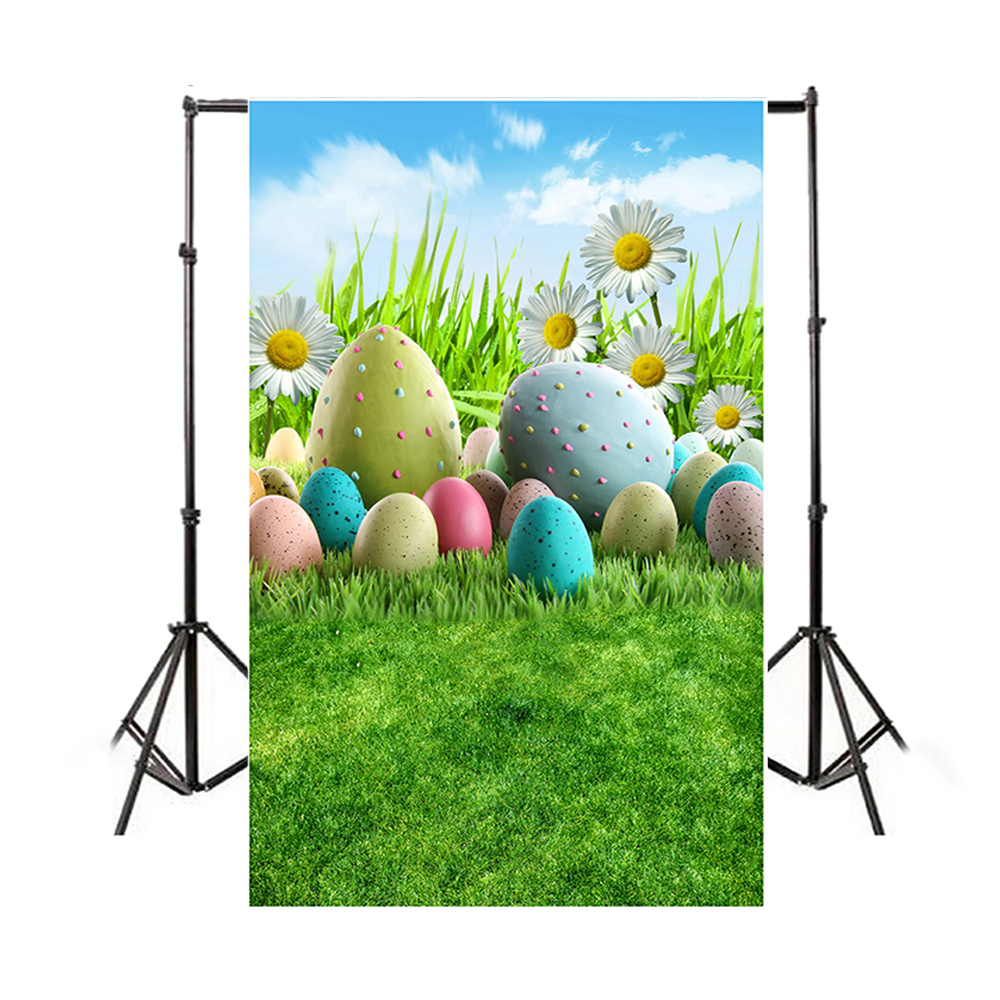 Easter Theme Photography Background Eggs Rabbit Flowers ...