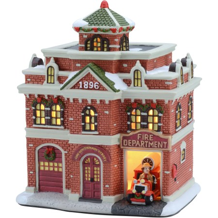 Firehouse Christmas Village House | Christmaswalls.co