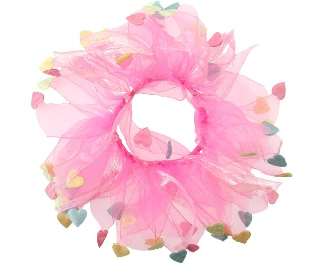 Charming Pet Products Ch77037s Holiday Party Collar Sm Vd Pink Conv Hearts