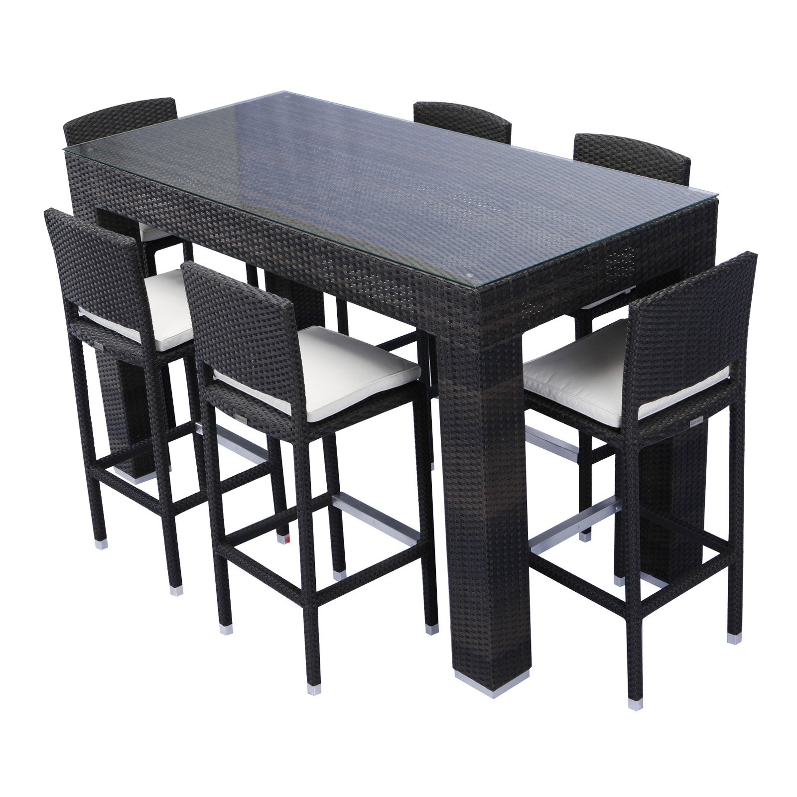outdoor bar height patio dining sets Source Outdoor Bar Height Patio Dining Set - Seats 6
