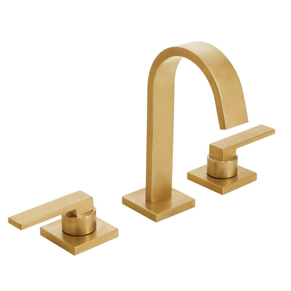 speakman lura 8 in widespread bathroom faucet w push pop drain assembly brass walmart com
