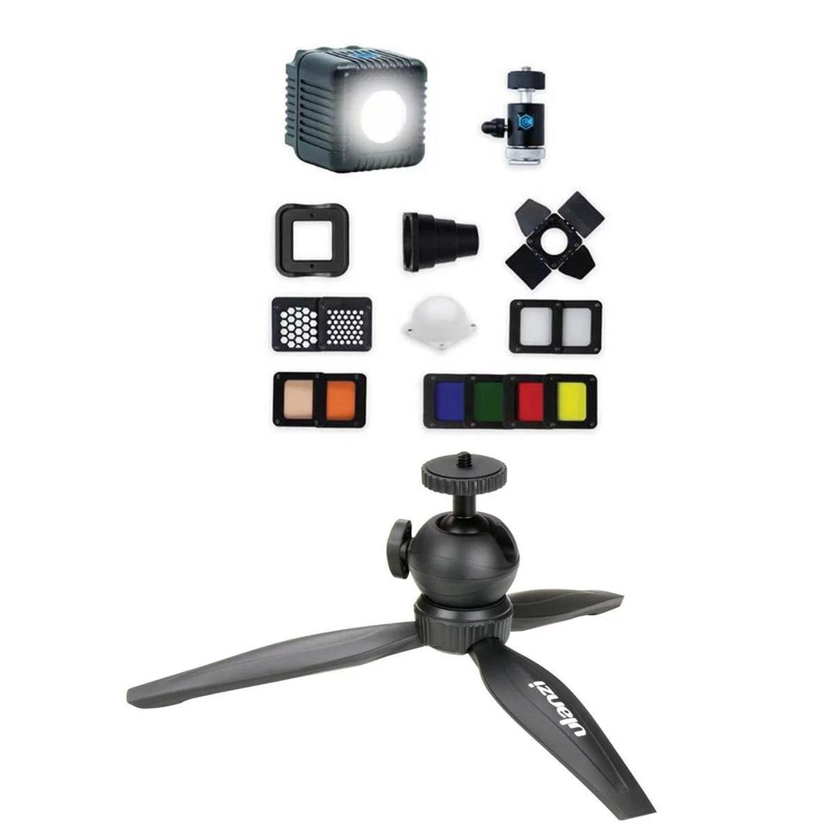 lume cube 2 0 portable lighting kit plus bundle includes lume cube 2 0 daylight led light dslr camera mount with light stand adapter with ulanzi m