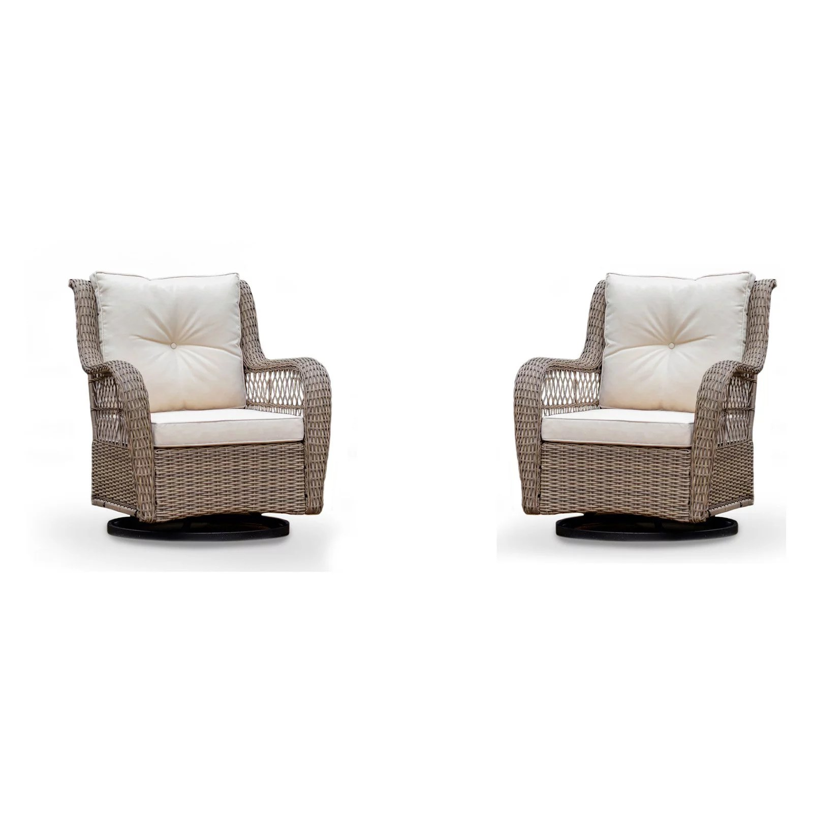 tortuga outdoor rio vista all weather resin wicker outdoor glider chair brown beige