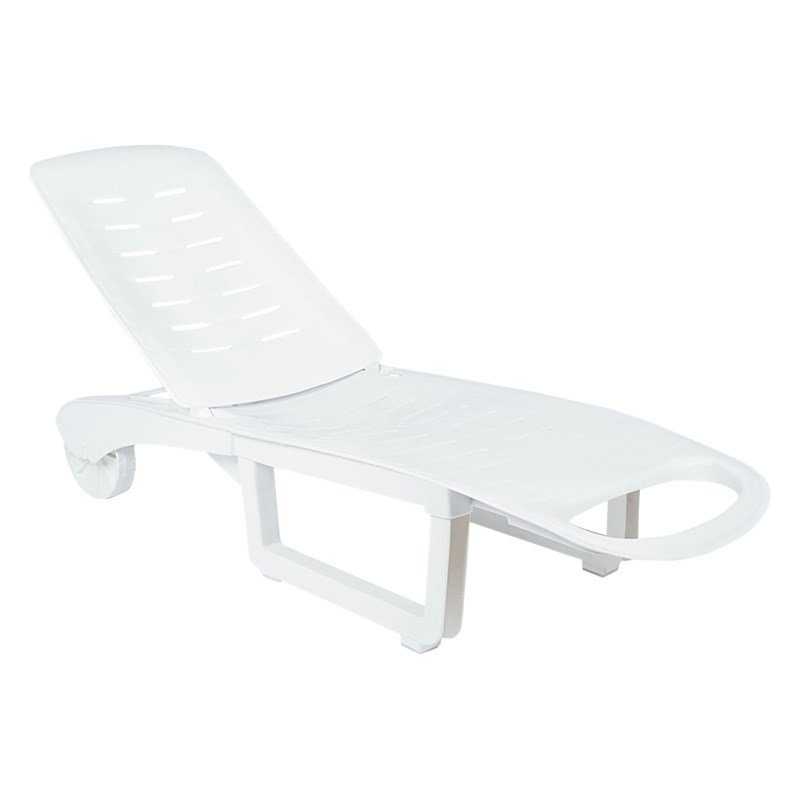 compamia sundance pool chaise lounge in white
