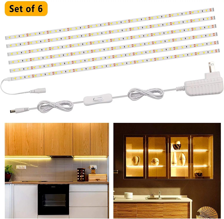 speclux flexible led strip lights bar led under cabinet lighting kits 9 84ft under counter strip light for kitchen cupboard desk monitor