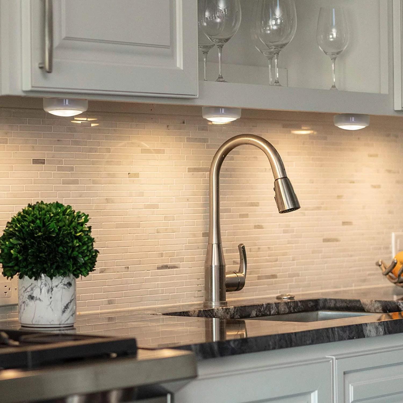 led puck light remote wireless led under cabinet lighting under counter lights for kitchen battery operated lights under cabinet light