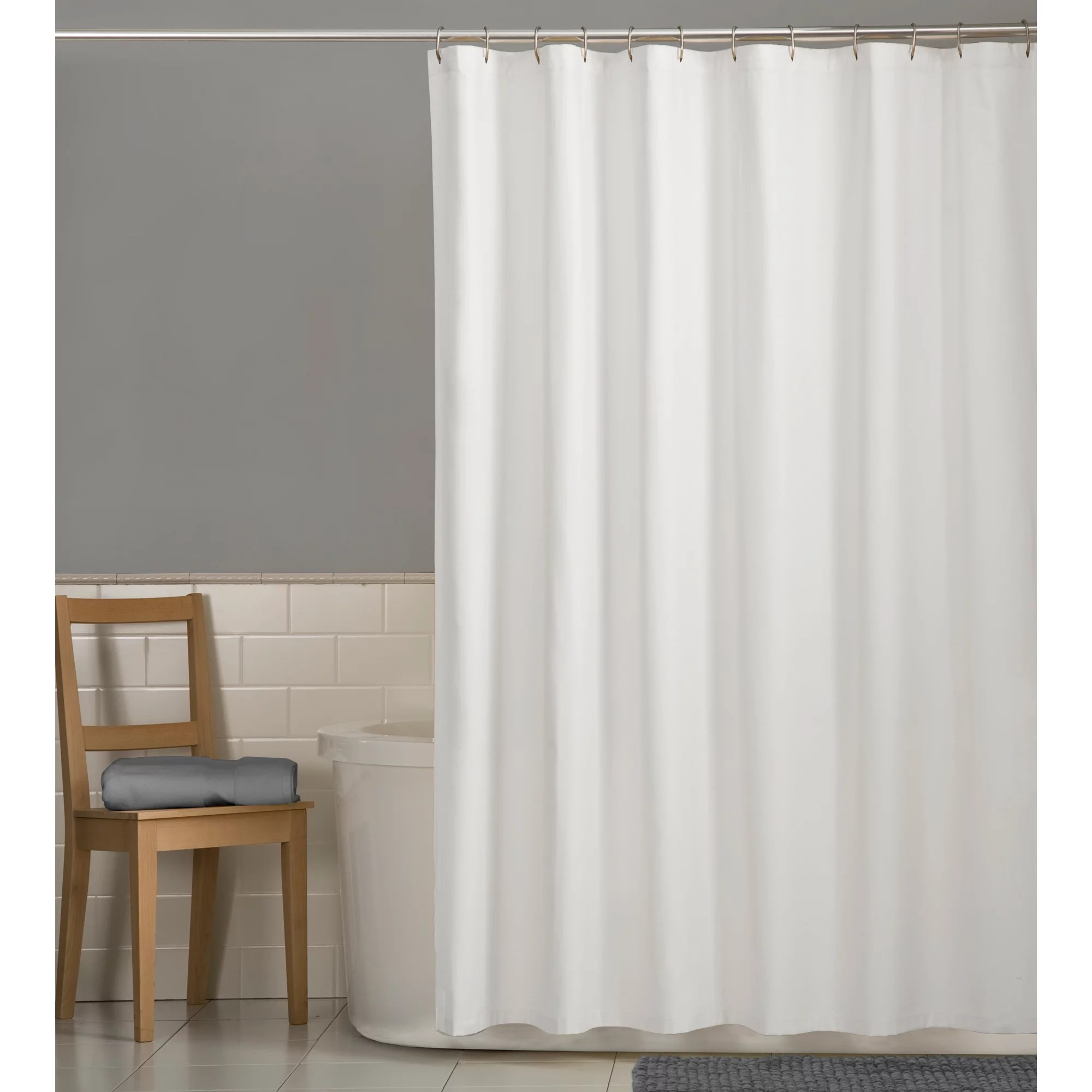 mainstays water repellent 70 x 72 fabric shower liner