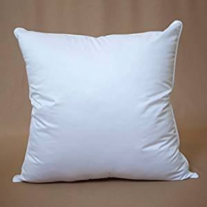 premium angel loft cluster fiber blend pillow insert 18x18 sham pillow form hypoallergenic cotton fully machine washable these small clusters of