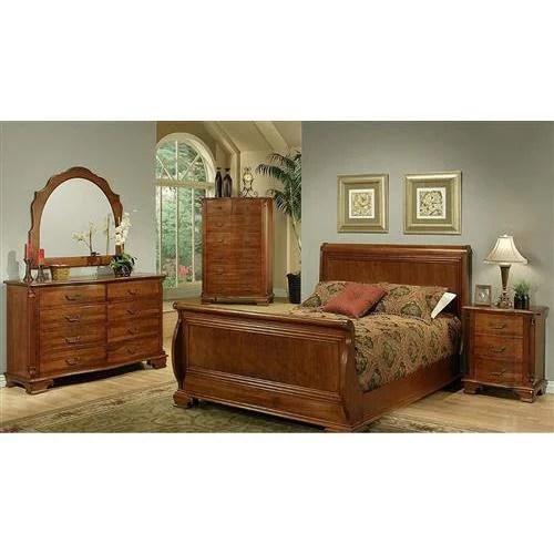 amanda home bedroom collection american heritage solid cherry 4 piece queen sleigh bedroom set including queen headboard footboard side rails