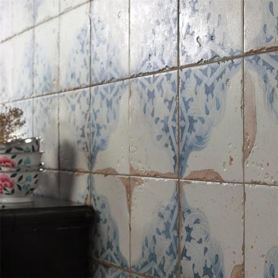 somertile 13x13 inch artesano azul decor ceramic floor and wall tile 10 tiles 12 2 sqft walmart com