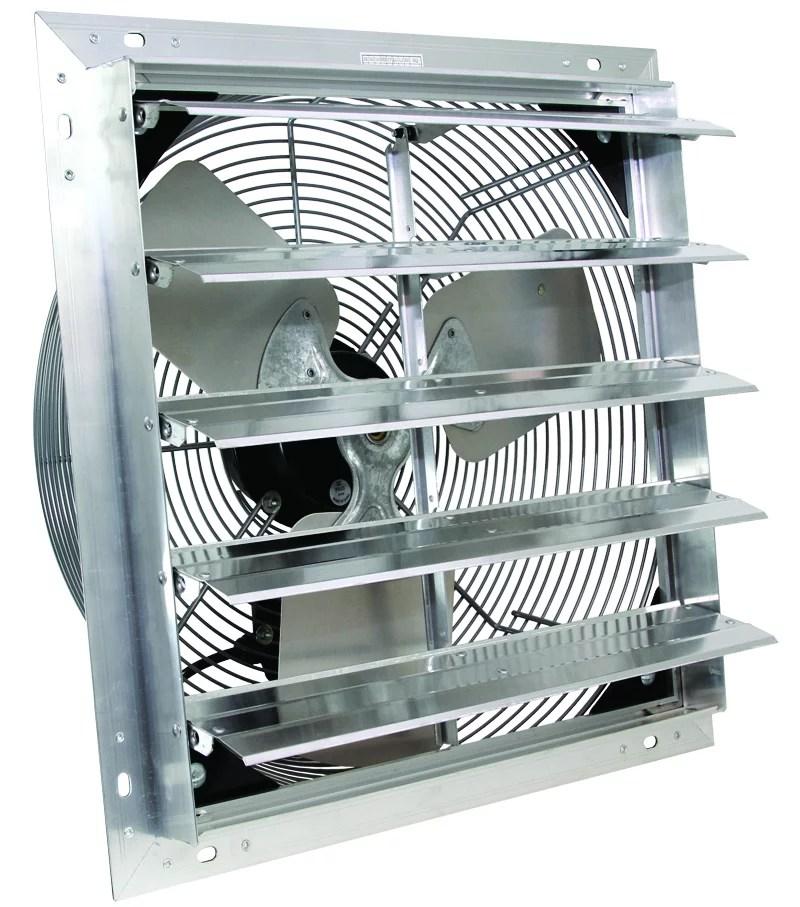 ves 16 inch 3 speed wall mount exhaust shutter fan with 9 cord for indoor or outdoor ventilation walmart com