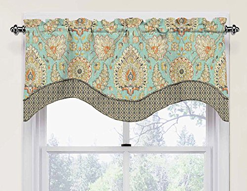 waverly valances for windows clifton hall 52 x 18 short curtain valance small window curtains bathroom living room and kitchens opal