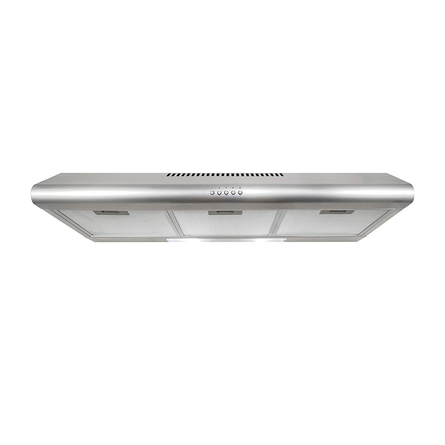 cosmo cos 5mu36 36 in under cabinet range hood ductless convertible duct slim kitchen stove vent with 3 speed exhaust fan reusable filter and led