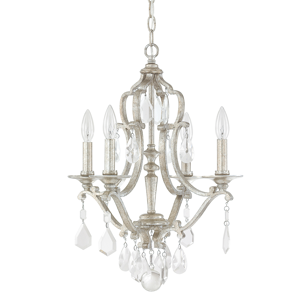capital lighting blakely antique silver 4 light mini chandelier