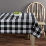 Way To Celebrate 60 X 102 Harvest Woven Buffalo Plaid Black White Tablecloth Walmart Com Walmart Com