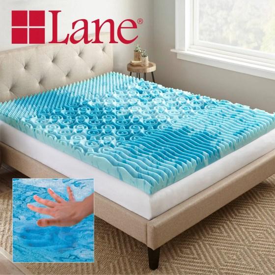Lane 3 Cooling Gellux Memory Foam Gel Mattress Topper Multiple Sizes