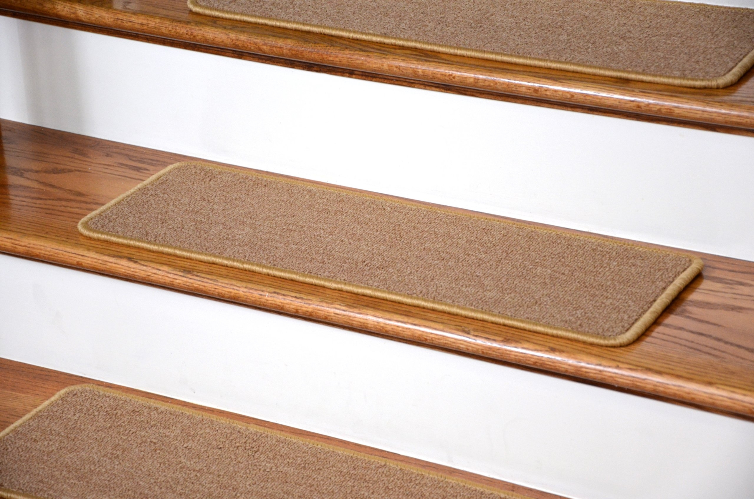 Dean Diy Peel And Stick Serged Non Skid Carpet Stair Treads   Stick On Stair Runners   Steel Gray   Bullnose Carpet   Stair Riser   Area Rugs   Non Skid Carpet
