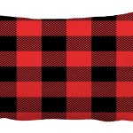 Abphqto Red And Black Tartan Plaid Checkered Pattern Pillow Case Pillow Cover Pillow Protector Two Sides For Couch Bed 20x30 Inch Walmart Com Walmart Com