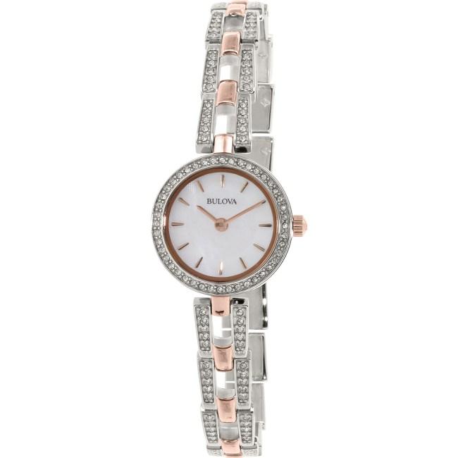 Bulova Women's 98L212 Silver Stainless-Steel Quartz Fashion Watch