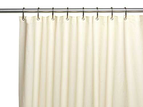 royal bath extra long and heavy 10 gauge peva non toxic shower curtain liner with metal grommets 72 x 84 ivory