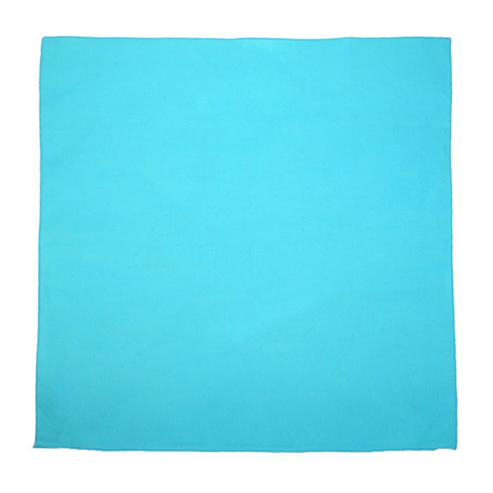 CTM® Individually Folded and Packaged Solid Color Cotton Bandana, Light Blue