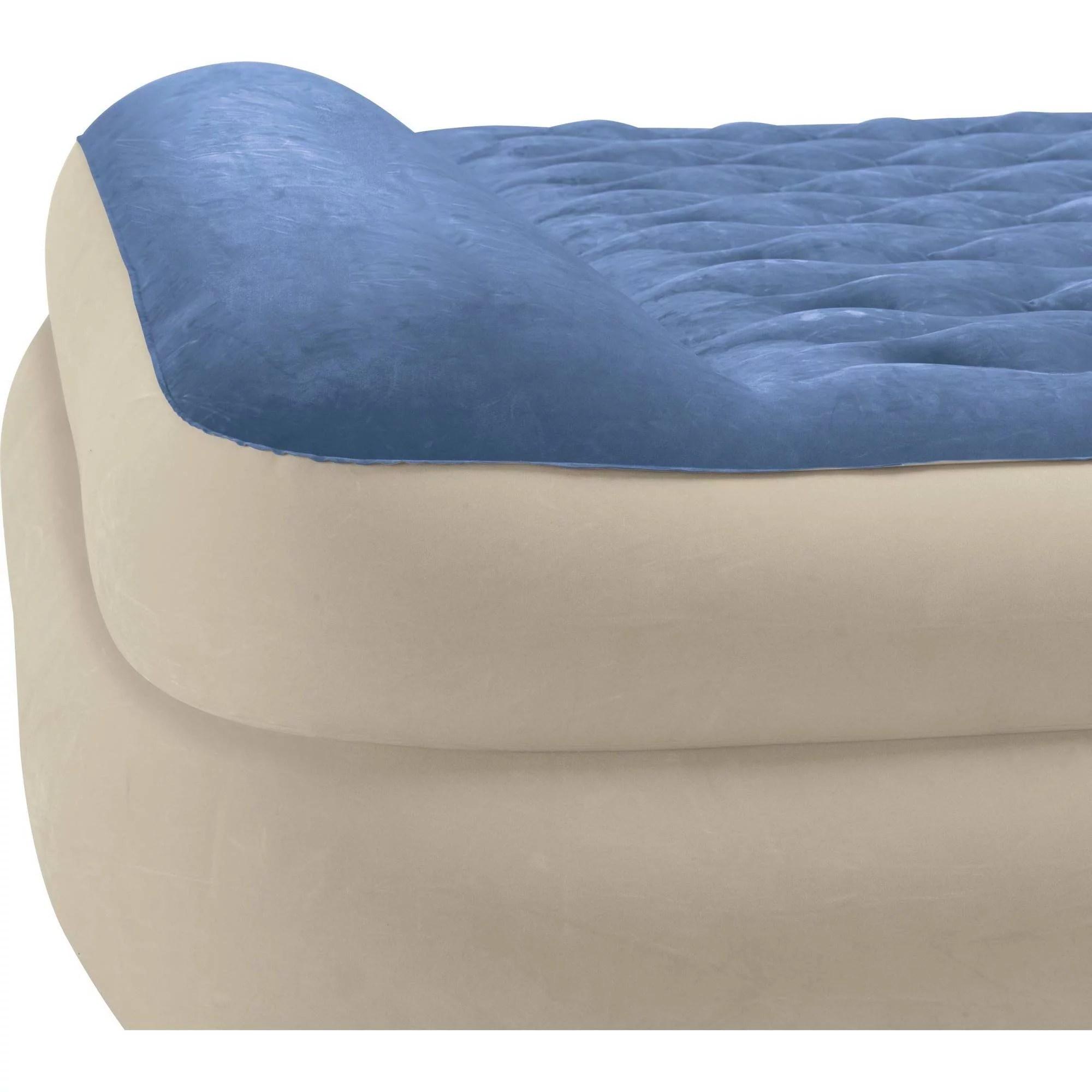 intex queen 18 raised pillow rest airbed mattress