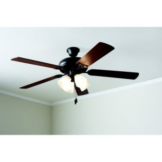 42  Mainstays Hugger Indoor Ceiling Fan with Light  White   Walmart com