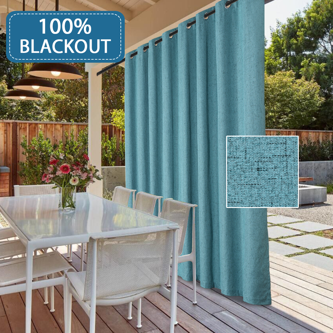 waterproof outdoor rich linen patio curtain 100 blackout curtain panels extra wide curtains anti rust grommets sliding door insulated draperies